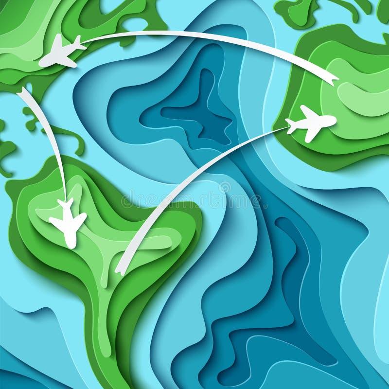Around the World - travel concept stock illustration