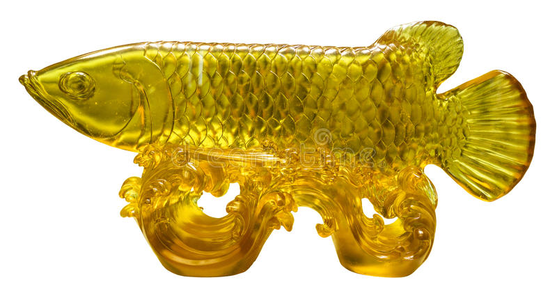 Arowana de cristal esmaltado foto de archivo