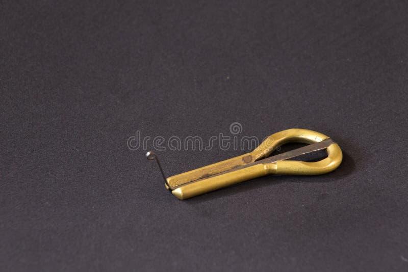 Arpa del mandíbula del instrumento musical foto de archivo libre de regalías