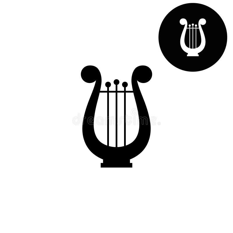 Arpa - icono blanco del vector stock de ilustración