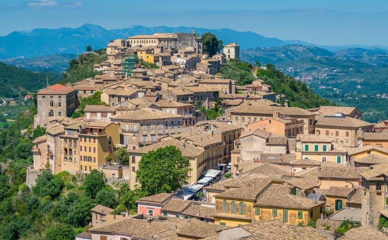 Arpino, ciudad antigua en la provincia de Frosinone, Lazio, Italia central fotos de archivo