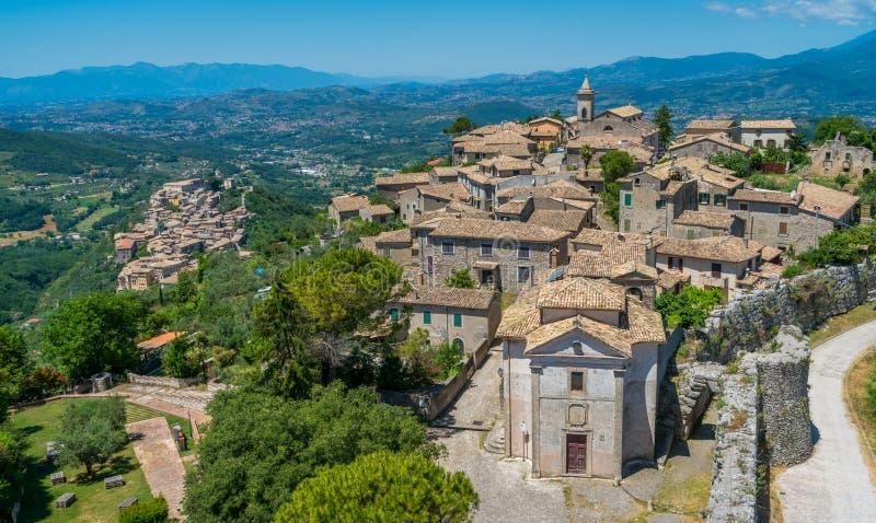 Arpino forntida stad i landskapet av Frosinone, Lazio, centrala Italien royaltyfri fotografi