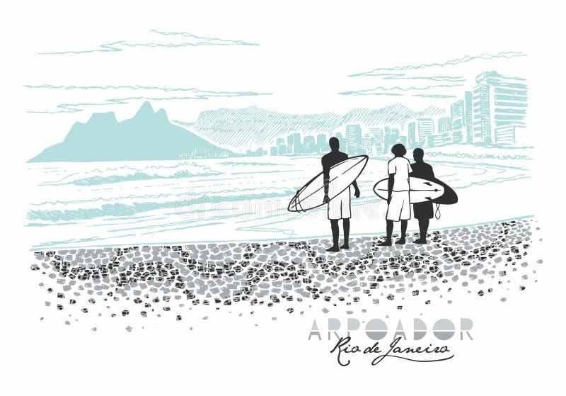 Arpoador, Ρίο ντε Τζανέιρο απεικόνιση αποθεμάτων