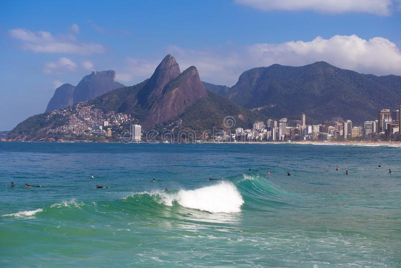Arpoador, Rio de Janeiro, el Brasil foto de archivo libre de regalías