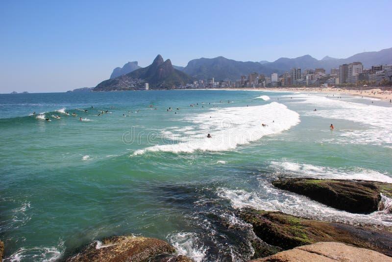 Arpoadorstrand in Rio de Janeiro stock afbeeldingen