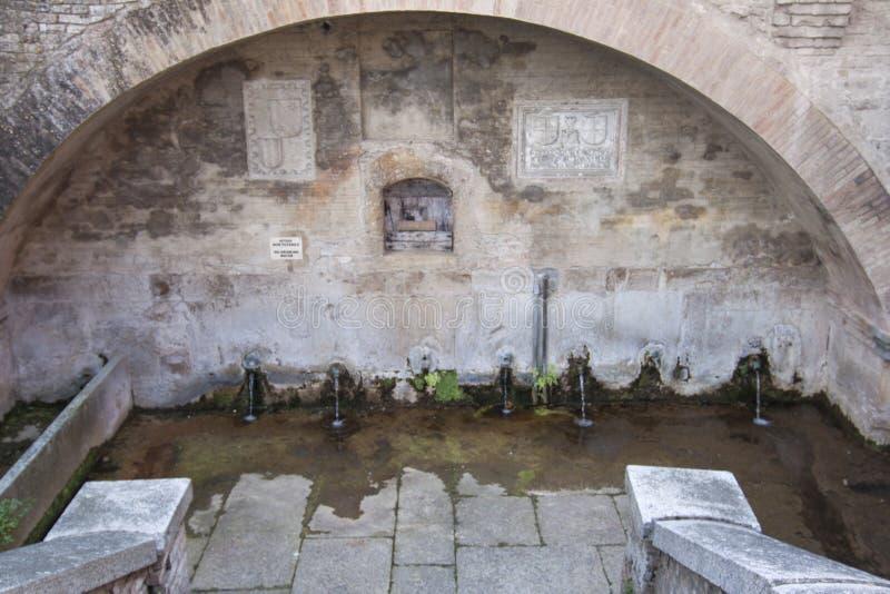 ` Arquato Piacenza Italia di Borgo Castell immagini stock libere da diritti
