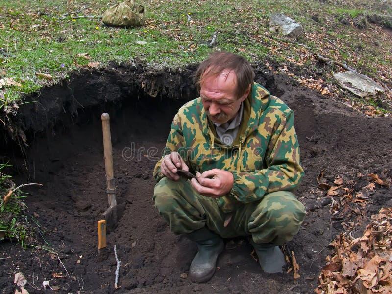 Arqueólogo   fotografía de archivo libre de regalías