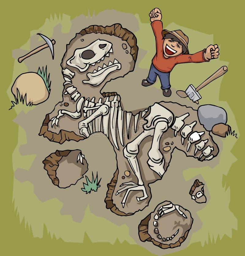 Arqueólogo ilustração do vetor