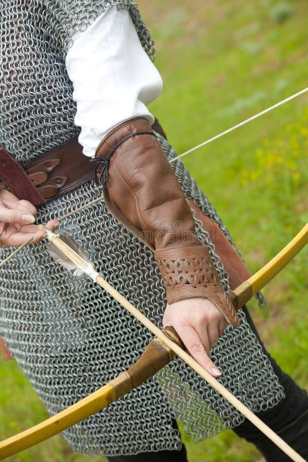 Arqueamiento/armadura medieval foto de archivo libre de regalías
