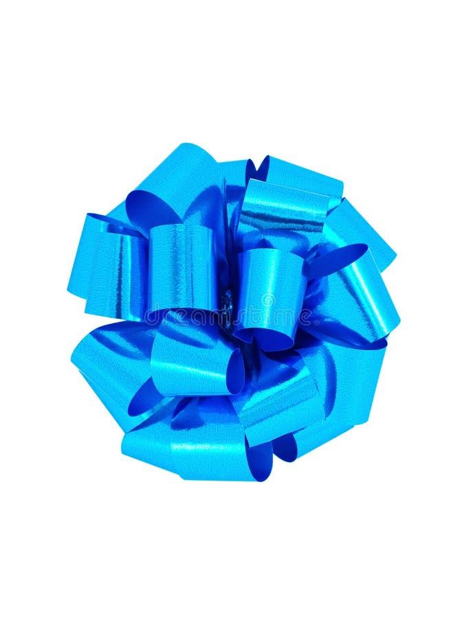 Arqueamiento azul de la cinta del regalo fotografía de archivo libre de regalías