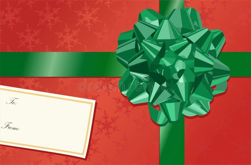 Arqueamiento de la Navidad stock de ilustración