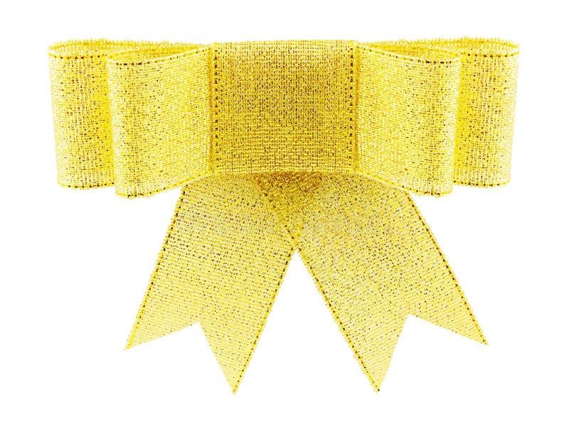 Arqueamiento de oro hermoso del regalo del brocado foto de archivo