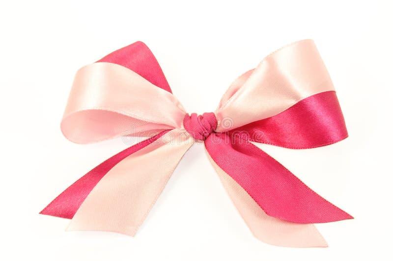 Arqueamiento hecho de cintas rosadas imágenes de archivo libres de regalías