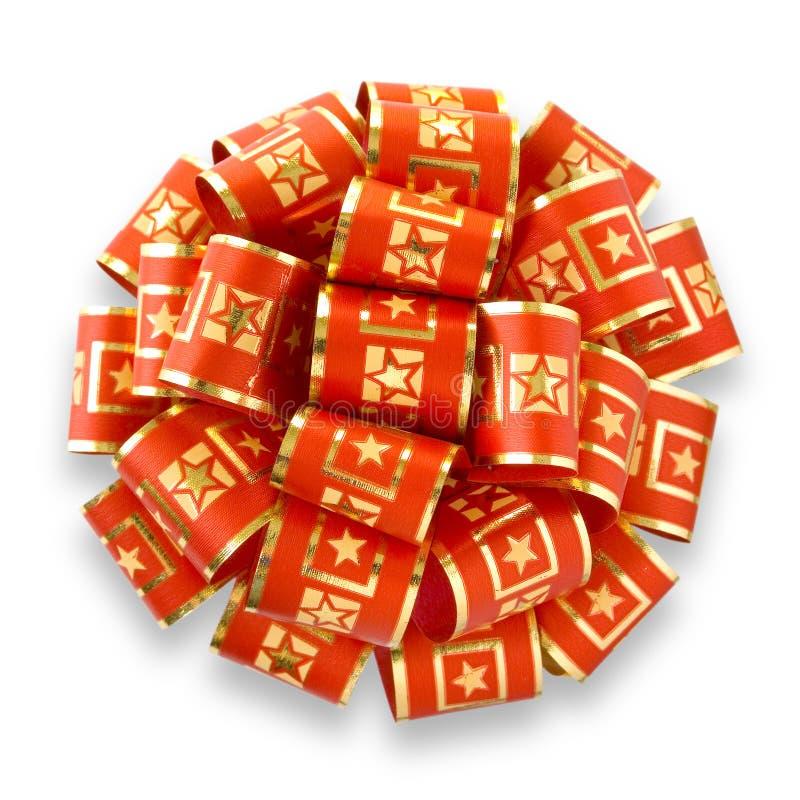 Download Arqueamiento Rojo Con Las Estrellas De Oro Foto de archivo - Imagen de celebración, decoración: 1276722