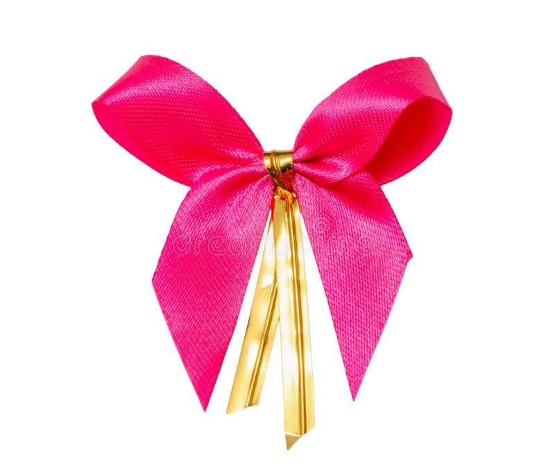 Arqueamiento rosado de la cinta del regalo imagen de archivo libre de regalías