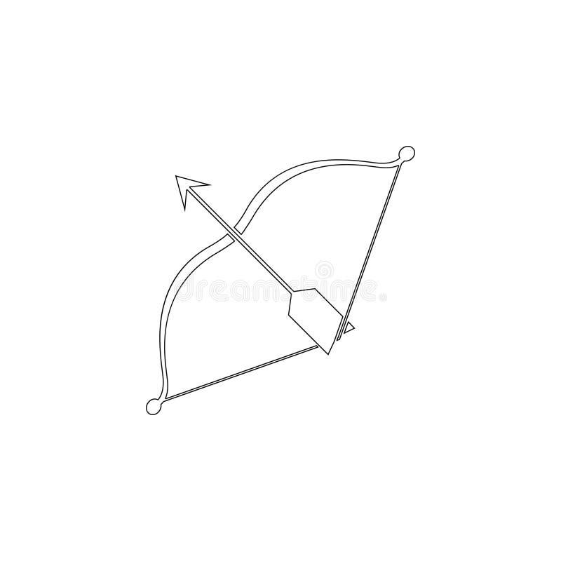 Arqueamiento y flecha Icono plano del vector libre illustration