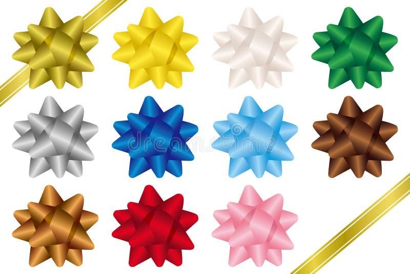 Arqueamientos coloridos de la cinta Arcos del regalo libre illustration