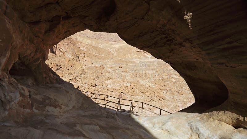 Arqueia a formação de rocha no parque de Timna, Israel fotografia de stock