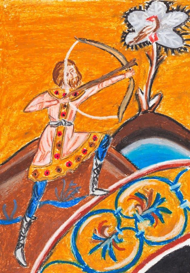 Arqueiro bizantino ilustração stock