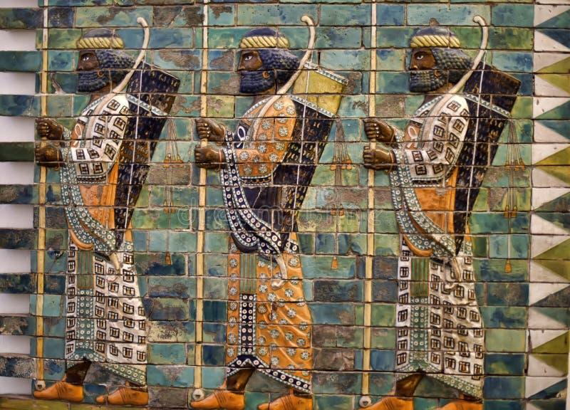 Arqueiros Babylonian imagens de stock