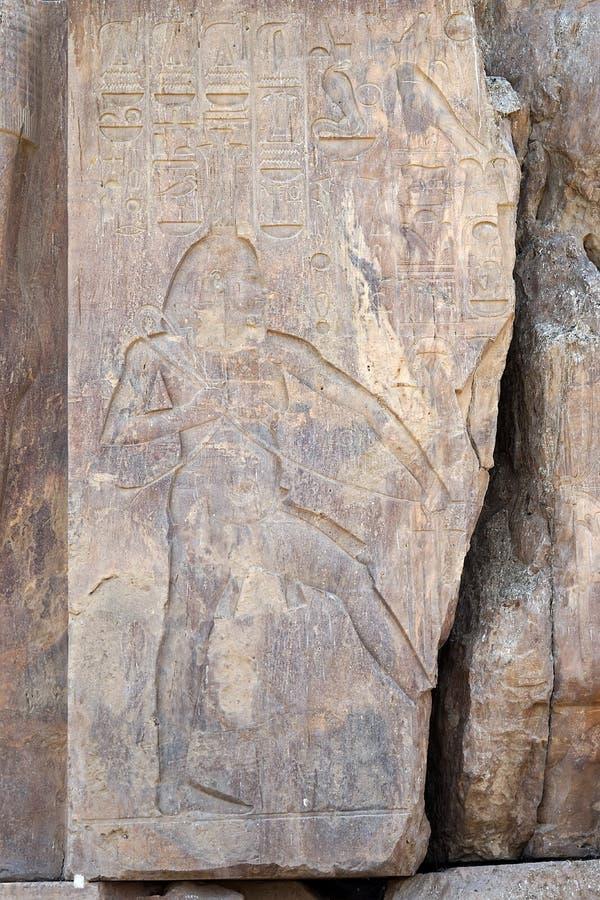 Arqueología del faraón de la ruina de Egipto Luxor de los colosos de Memnon imagen de archivo libre de regalías