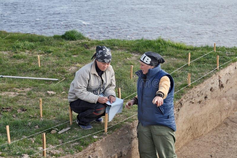 Arqueologia: programa foto de stock royalty free