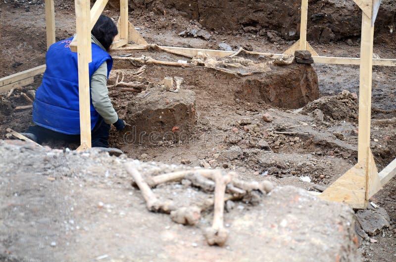 Arqueologia urbana - Bucareste imagem de stock
