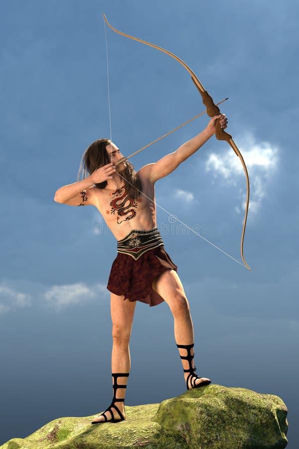 Arquero tribal libre illustration