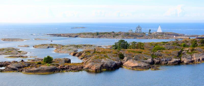 Arquipélago das ilhas de Aland, Kobba Klintar, panorama imagens de stock