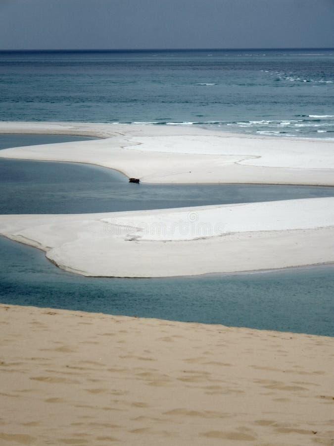 Arquipélago de Moçambique Bazaruto imagens de stock