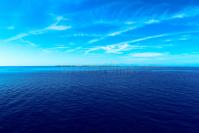 Arquipélago liso de Tuscan da ilha de Pianosa fotografia de stock