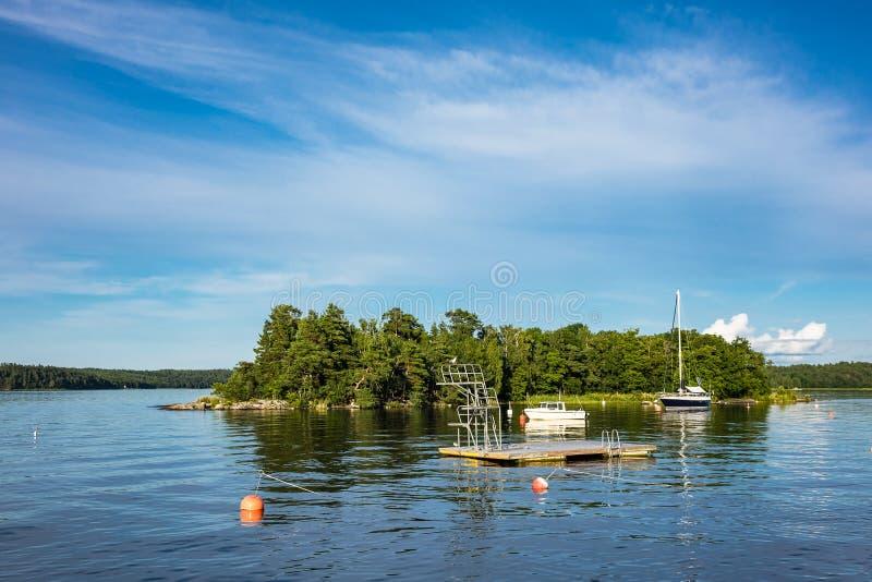 Arquipélago na costa de mar Báltico foto de stock royalty free