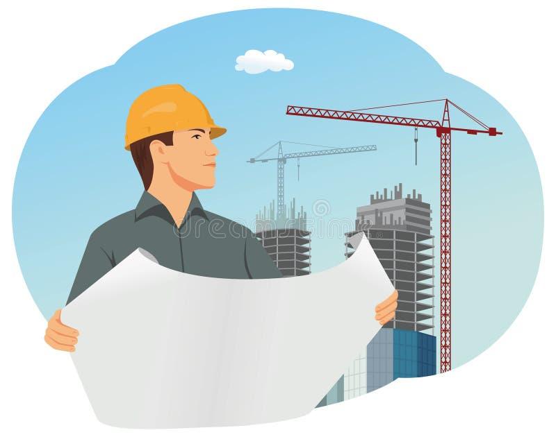 arquitecto stock de ilustración