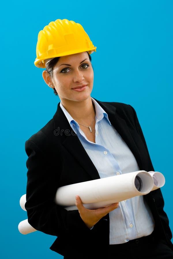 Arquitecto de sexo femenino joven imagen de archivo