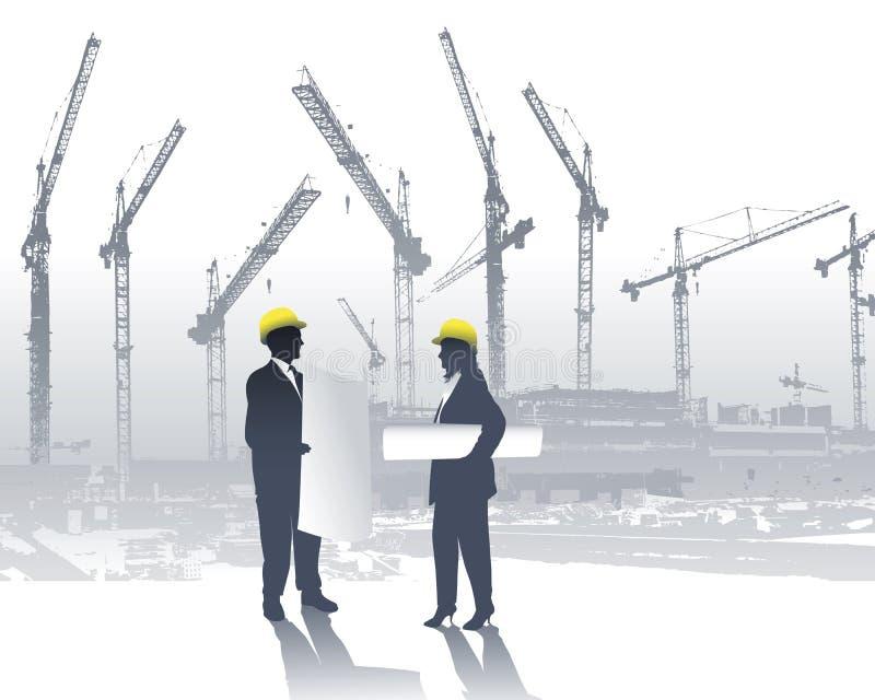Arquitectos ilustración del vector