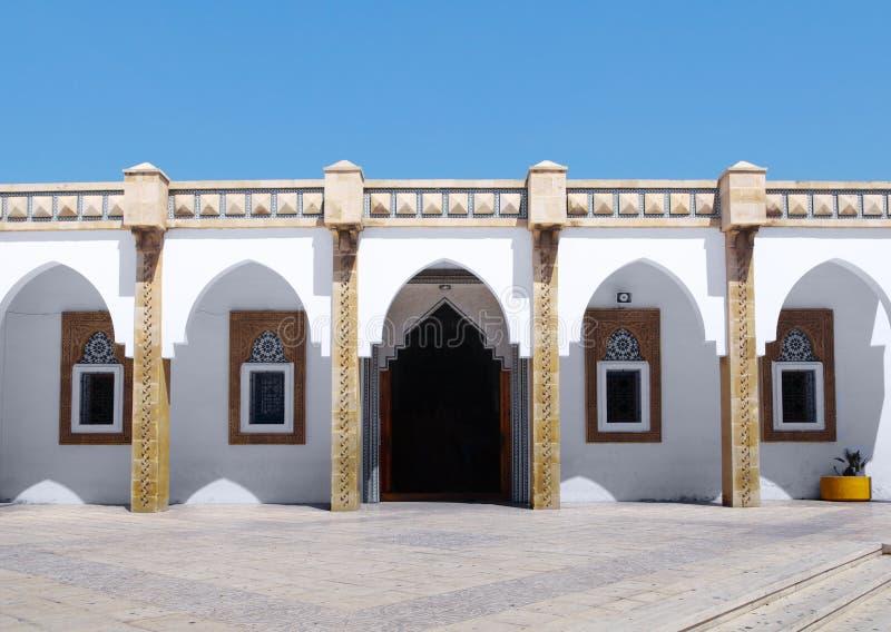 Arquitectura árabe en la mezquita de Loubnan, Agadir fotos de archivo libres de regalías