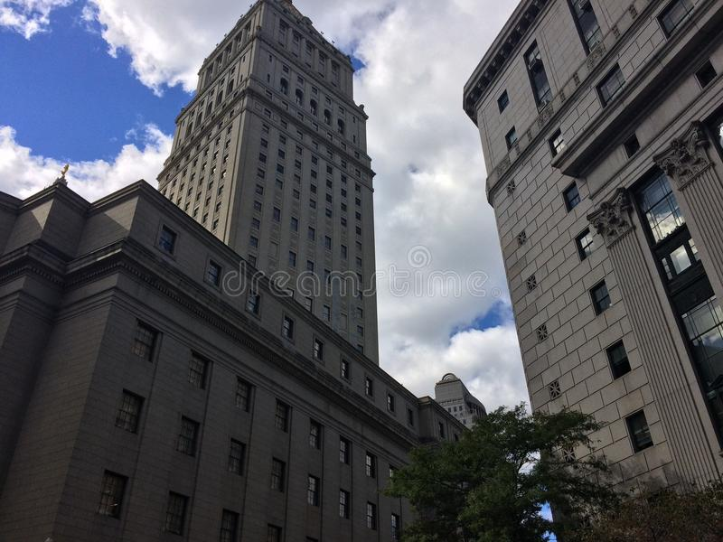 Arquitectura única de NYC fotografía de archivo libre de regalías