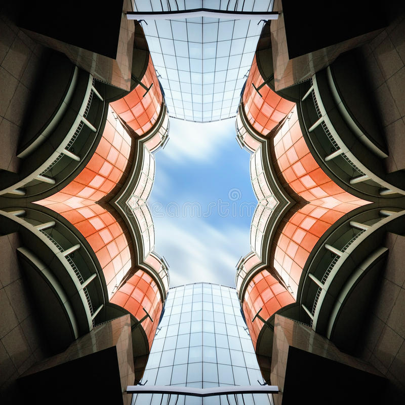 Arquitectura abstracta Biulding fotografía de archivo