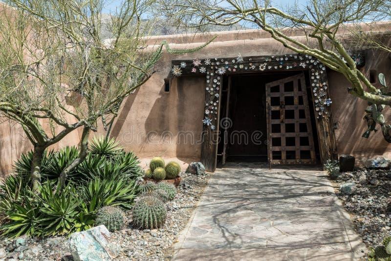 Arquitectura al sudoeste del adobe imagenes de archivo
