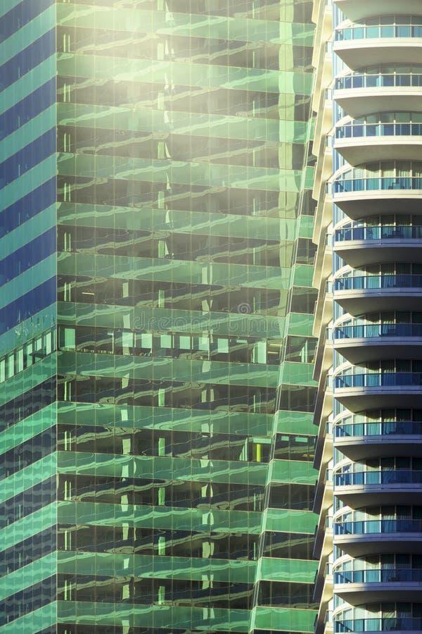 Arquitectura céntrica de Miami stock de ilustración