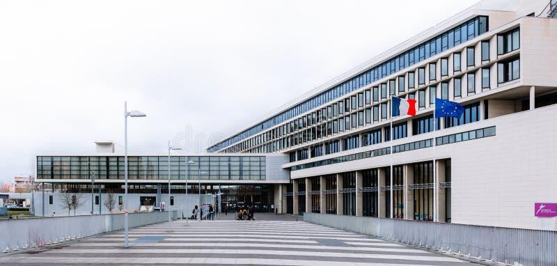 Arquitectura Cergy Pontoise imagen de archivo libre de regalías