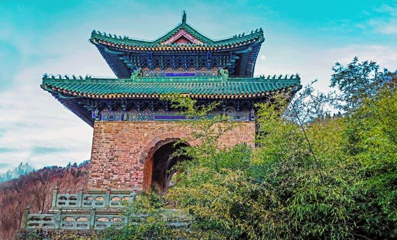 Arquitectura china del Taoist, imagen de archivo
