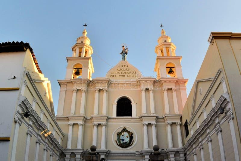 Arquitectura colonial blanca en Sucre, Bolivia imagen de archivo libre de regalías
