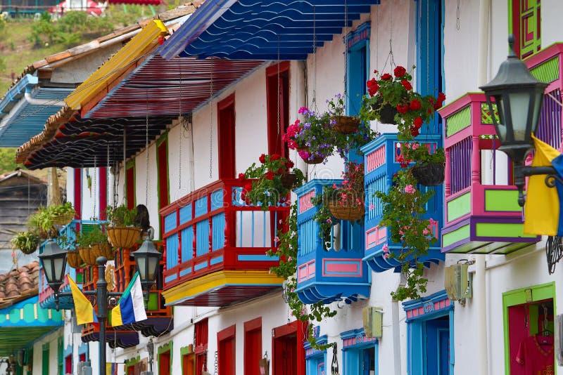Arquitectura colonial colorida foto de archivo libre de regalías