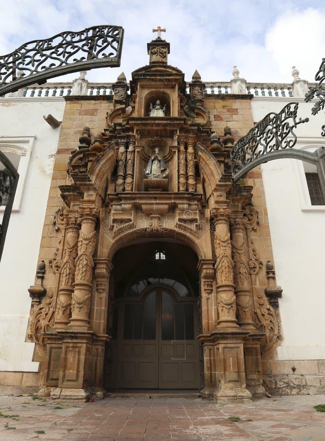 Arquitectura colonial de la catedral metropolitana de Sucre fotos de archivo libres de regalías