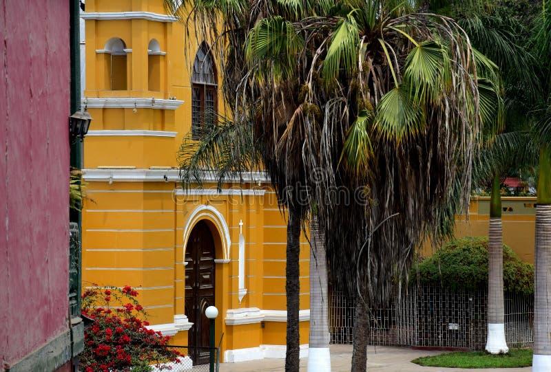 Arquitectura colonial en Lima, Perú fotos de archivo libres de regalías