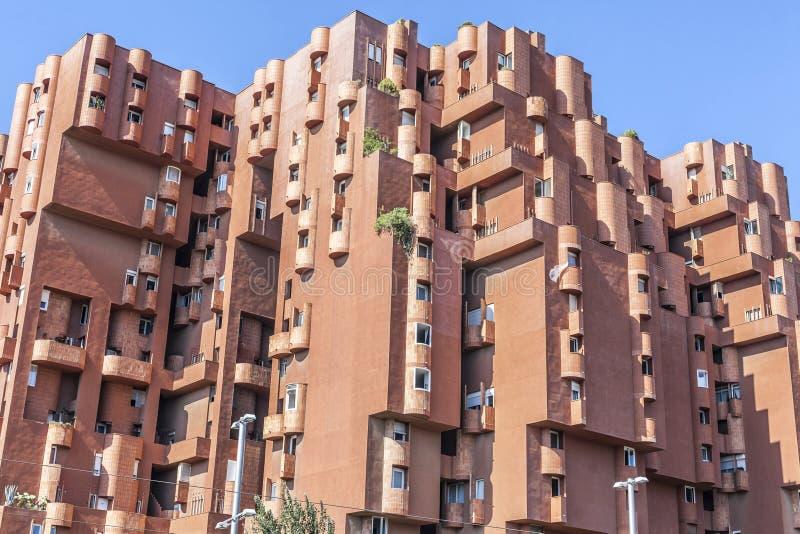 Arquitectura contemporánea, edificio de Walden 7 de Ricard Bofill, Sa imagen de archivo