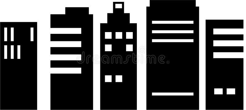 Arquitectura da cidade ilustração royalty free