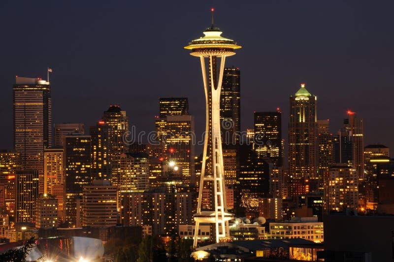 Arquitectura da cidade da baixa de Seattle foto de stock