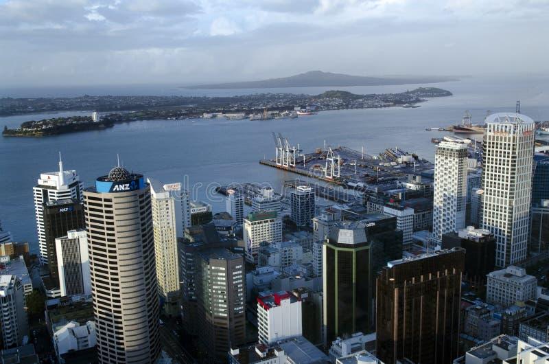 Arquitectura da cidade de Auckland CBD - Nova Zelândia NZ fotografia de stock